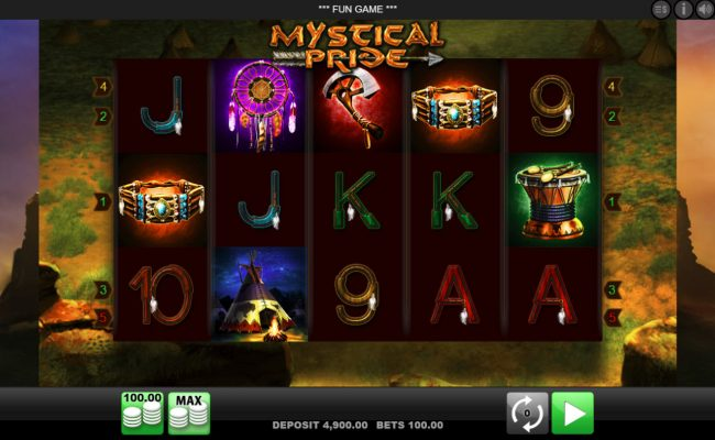 Play slots at 24 Bettle: 24 Bettle featuring the Video Slots Mystical Pride with a maximum payout of $100,000