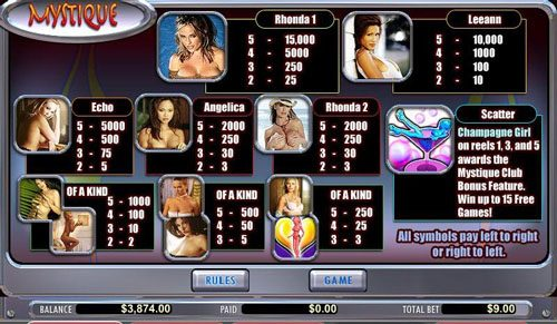 Royal Panda featuring the video-Slots Mystique Club with a maximum payout of 15,000x