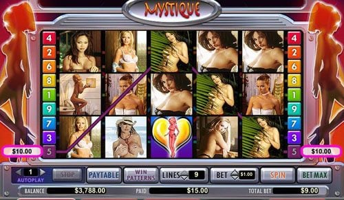 Play slots at Genesis Casino: Genesis Casino featuring the video-Slots Mystique Club with a maximum payout of 15,000x