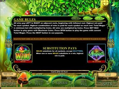 Villento featuring the Video Slots Mystique Grove with a maximum payout of $12,500