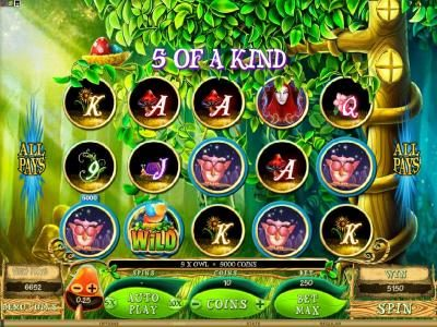 Play slots at Casino-X: Casino-X featuring the Video Slots Mystique Grove with a maximum payout of $12,500