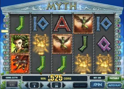 Play slots at Karamba: Karamba featuring the Video Slots Myth with a maximum payout of $1,250
