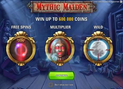 Royal House featuring the Video Slots Mythic Maiden with a maximum payout of $10,000