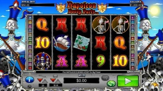 Euro King featuring the Video Slots Napoleon Boney Parts with a maximum payout of $10,000