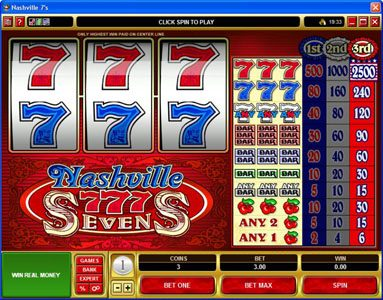 EypoBet featuring the video-Slots Nashville 7's with a maximum payout of $12,500