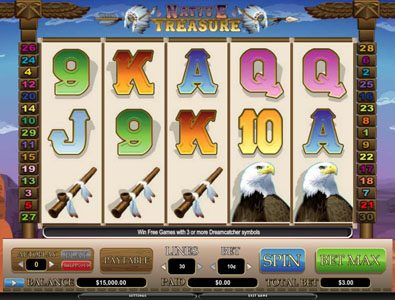 Betchan featuring the video-Slots Native Treasure with a maximum payout of 5,000x