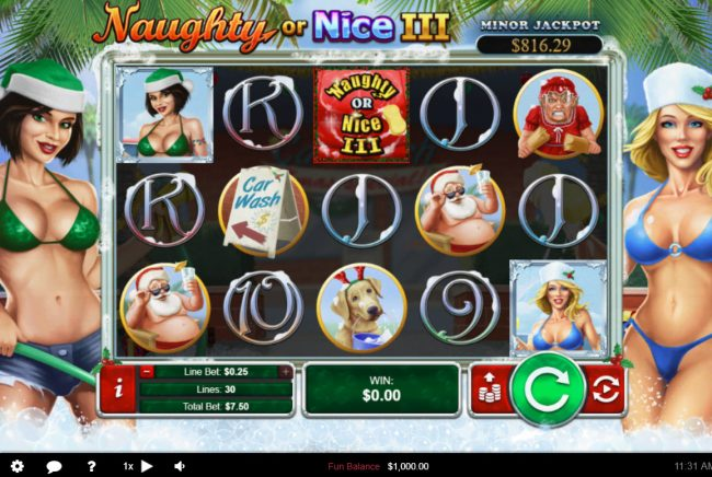 Play slots at Prism: Prism featuring the Video Slots Naughty or Nice III with a maximum payout of $12, 500