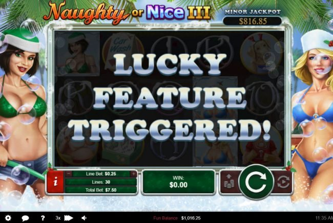 iNET Bet featuring the Video Slots Naughty or Nice III with a maximum payout of $12, 500