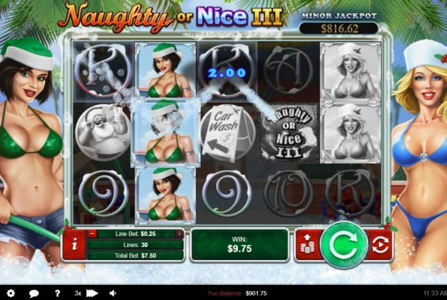 Play slots at Platinum Reels: Platinum Reels featuring the Video Slots Naughty or Nice III with a maximum payout of $12, 500