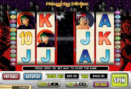 Miami Club featuring the Video Slots Naughty Ninjas with a maximum payout of $20,000