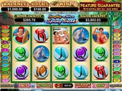 Play slots at Uptown Aces: Uptown Aces featuring the Video Slots Naughty or Nice Spring Break with a maximum payout of $250,000