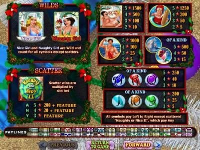 Casino Midas featuring the Video Slots Naughty or Nice Spring Break with a maximum payout of $250,000