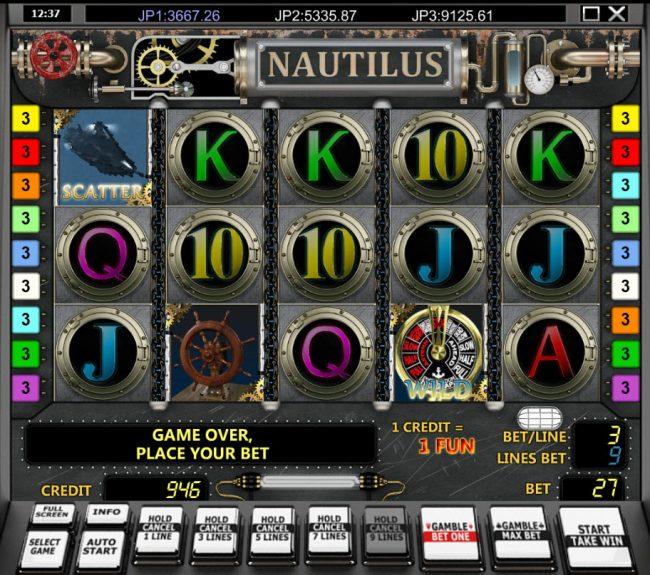 Nautilus :: Main Game Board