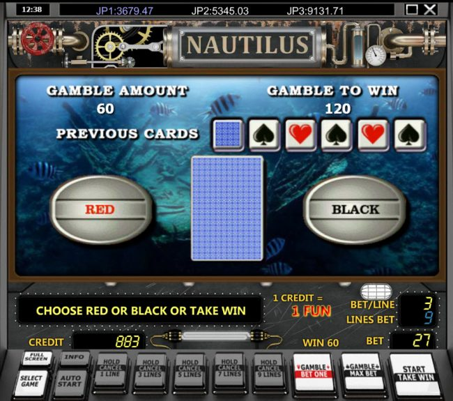 Nautilus :: Red or Black Gamble feature