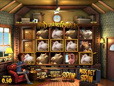 007 Slots featuring the Video Slots Ned and his Friends with a maximum payout of $1,250