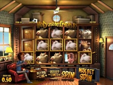Ned and his Friends :: her is an example of a multiline 3800 coin big win jackpot