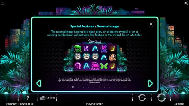Neon Jungle :: Special Features Rules