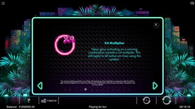 Neon Jungle :: X4 Multiplier Rules