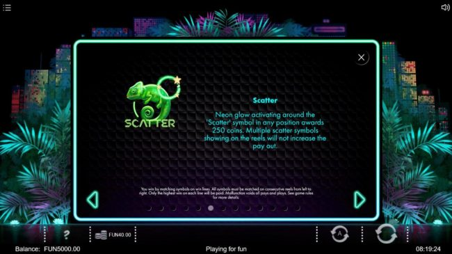 Neon Jungle :: Scatter Symbol Rules