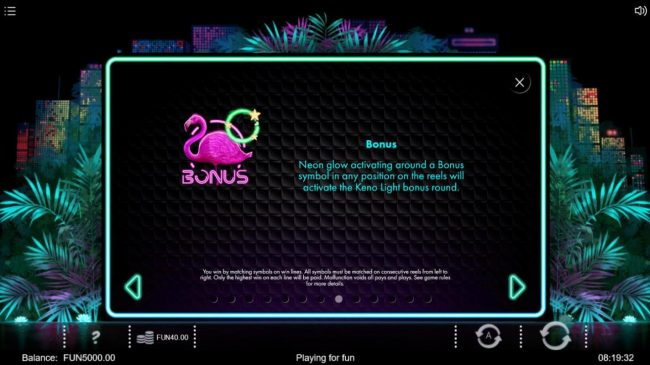 Neon Jungle :: Bonus Rules