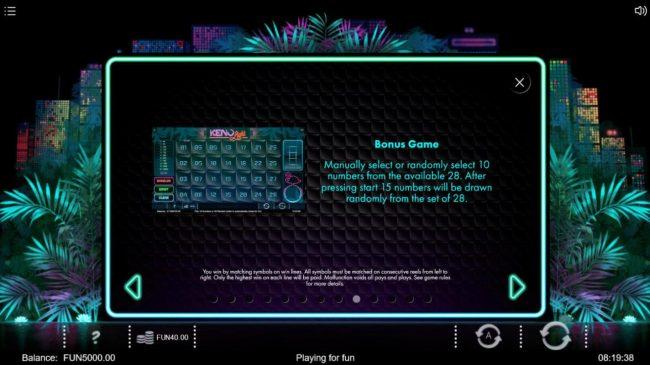 Neon Jungle :: Bonus Game Rules