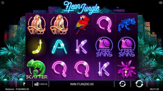 Neon Jungle :: Multiple winning paylines