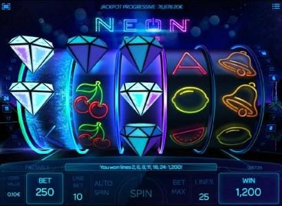 Diamond respins feature awards a 1,200 coin big win
