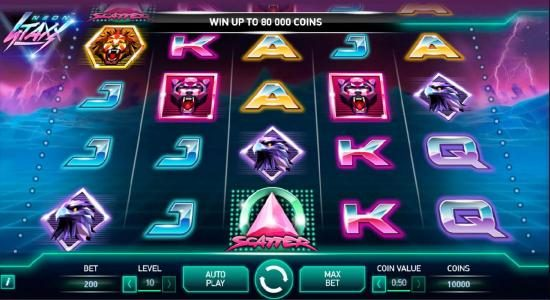 Play slots at Slots Angel: Slots Angel featuring the Video Slots Neon Staxx with a maximum payout of $400,000