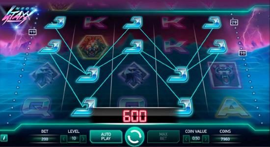 Triple Aces featuring the Video Slots Neon Staxx with a maximum payout of $400,000