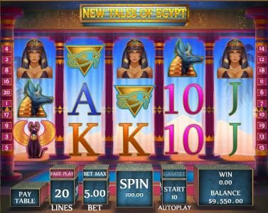 Rich Casino featuring the Video Slots New Tales of Egypt with a maximum payout of $20,000