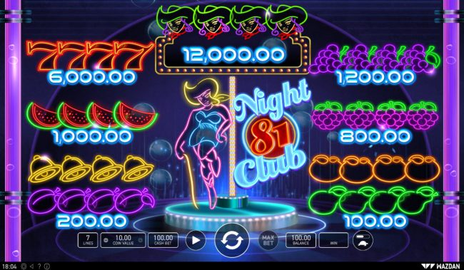 Night Club 81 :: Paytable