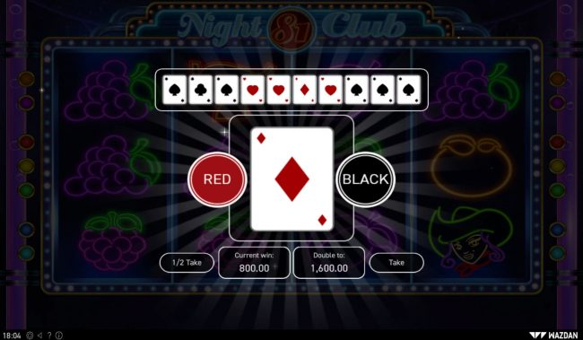 Night Club 81 :: Red or Black Gamble feature