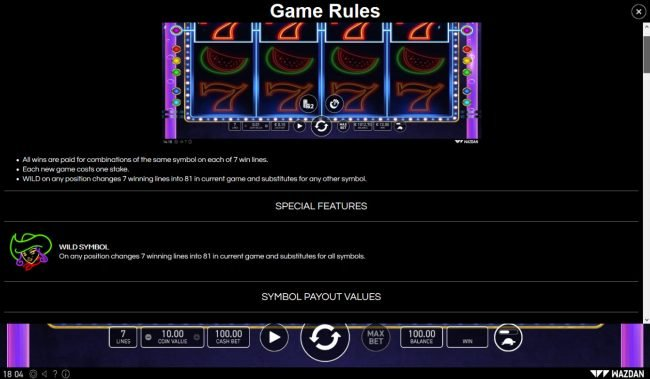 Night Club 81 :: General Game Rules