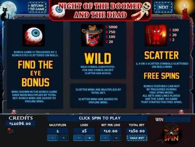 Play slots at Mission 2 Game: Mission 2 Game featuring the Video Slots Night of the Doomed with a maximum payout of Jackpot