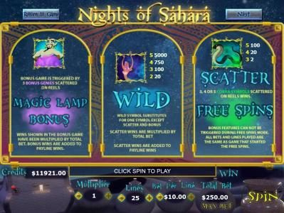 Play slots at Mission 2 Game: Mission 2 Game featuring the Video Slots Nights of Sahara with a maximum payout of Jackpot
