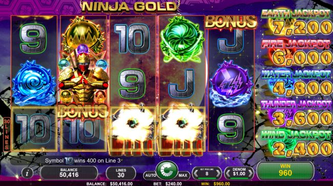 Ninja Gold :: Four of a kind