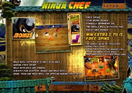 Lapalingo featuring the Video Slots Ninja Chef with a maximum payout of $2,000