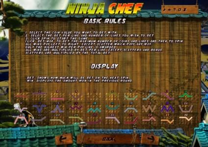 Mongoose Casino featuring the Video Slots Ninja Chef with a maximum payout of $2,000