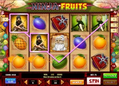 Omnia featuring the Video Slots Ninja Fruits with a maximum payout of $1250