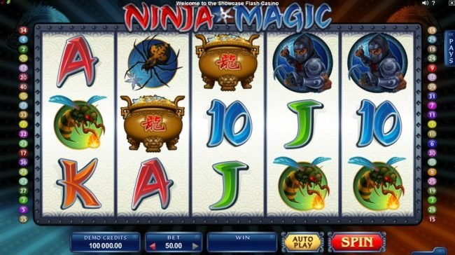 Wixstars featuring the Video Slots Ninja Magic with a maximum payout of $15,000
