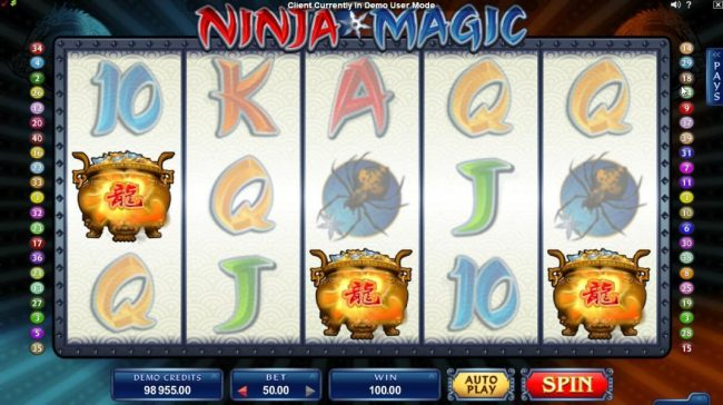 Virgin featuring the Video Slots Ninja Magic with a maximum payout of $15,000