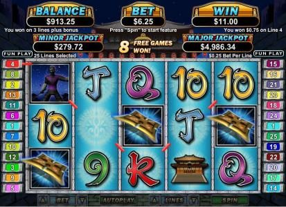Casino Brango featuring the Video Slots Ninja Star with a maximum payout of $250,000