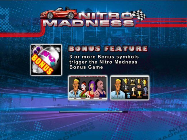 Play slots at Royale24: Royale24 featuring the Video Slots Nitro Madness with a maximum payout of $900,000