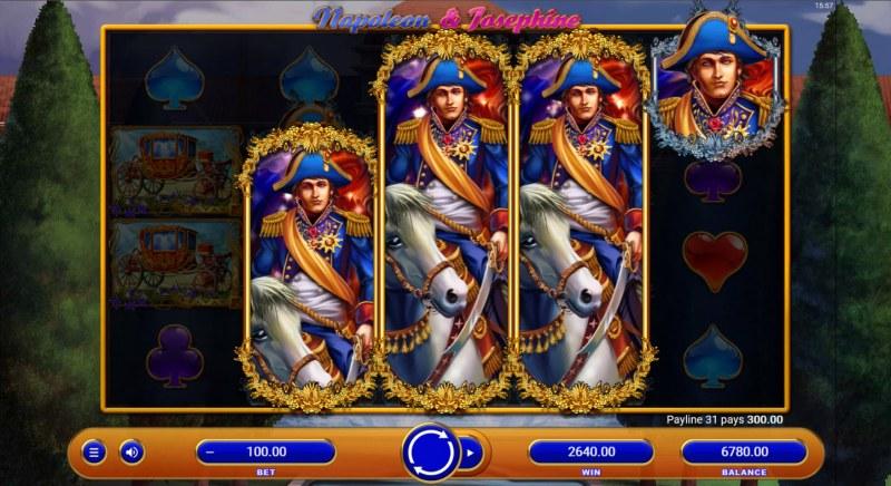 Napoleon & Josephine :: Multiple winning combinations lead to a big win