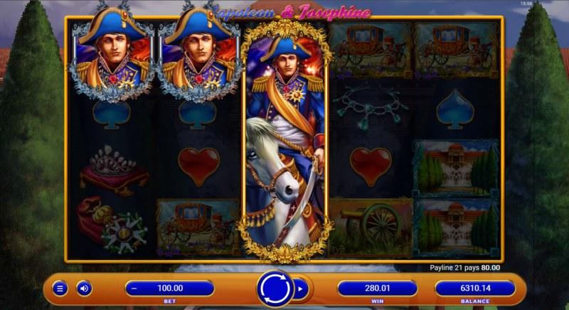 Napoleon & Josephine :: A three of a kind win