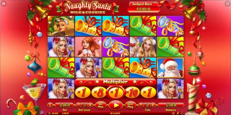 Naughty Santa Milk & Cookies :: Main Game Board