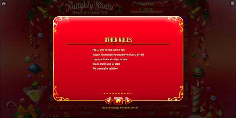 Naughty Santa Milk & Cookies :: General Game Rules