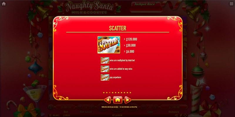 Naughty Santa Milk & Cookies :: Scatter Symbol Rules