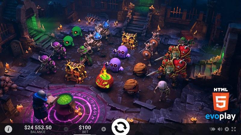 Necromancer :: Free Spins Game Board