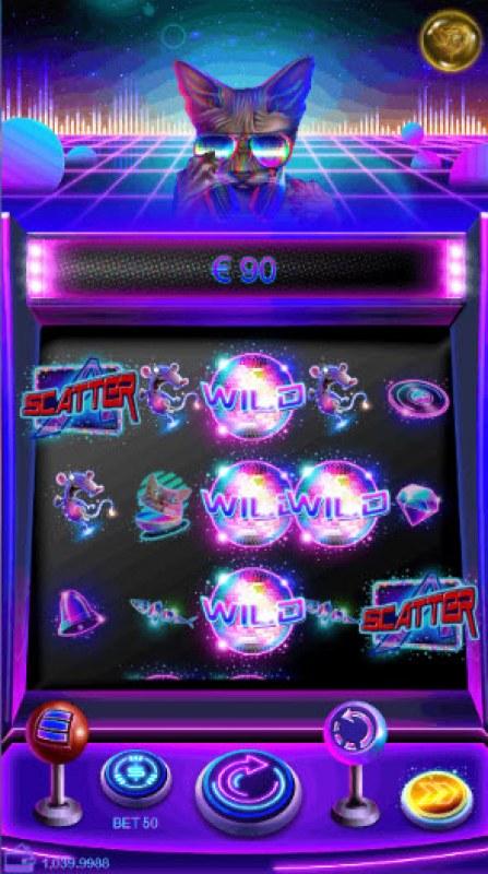 Neon Cat :: Multiple winning combinations